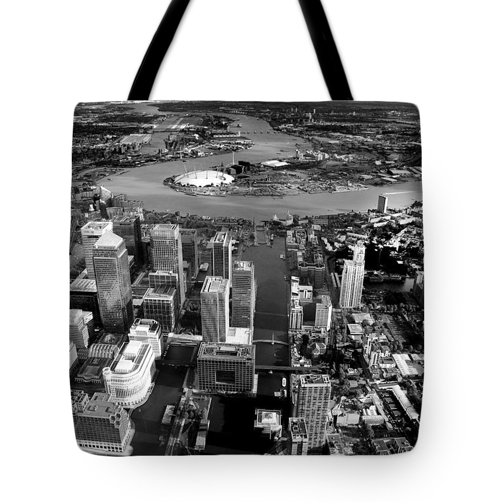 London Tote Bag featuring the photograph Aerial View Of London 5 by Mark Rogan