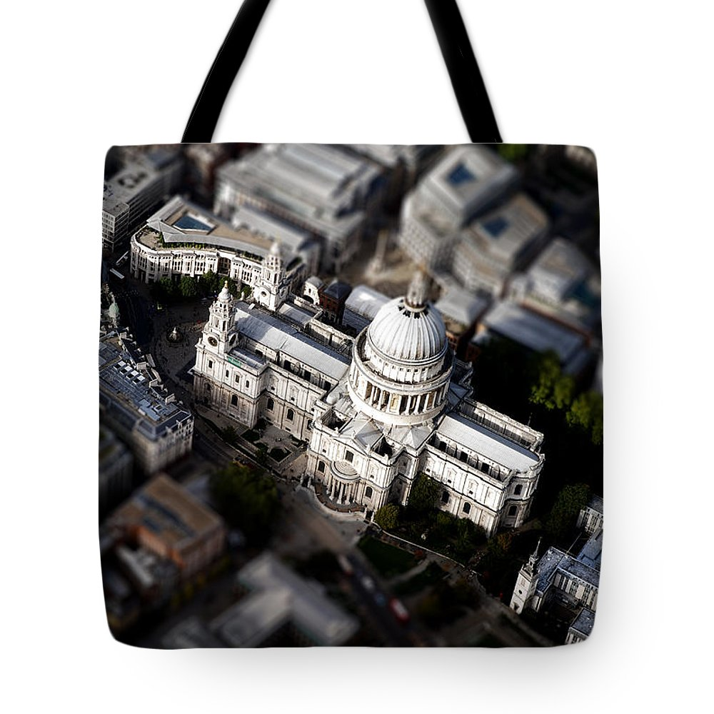 London Tote Bag featuring the photograph Aerial View Of St Pauls Cathedral by Mark Rogan