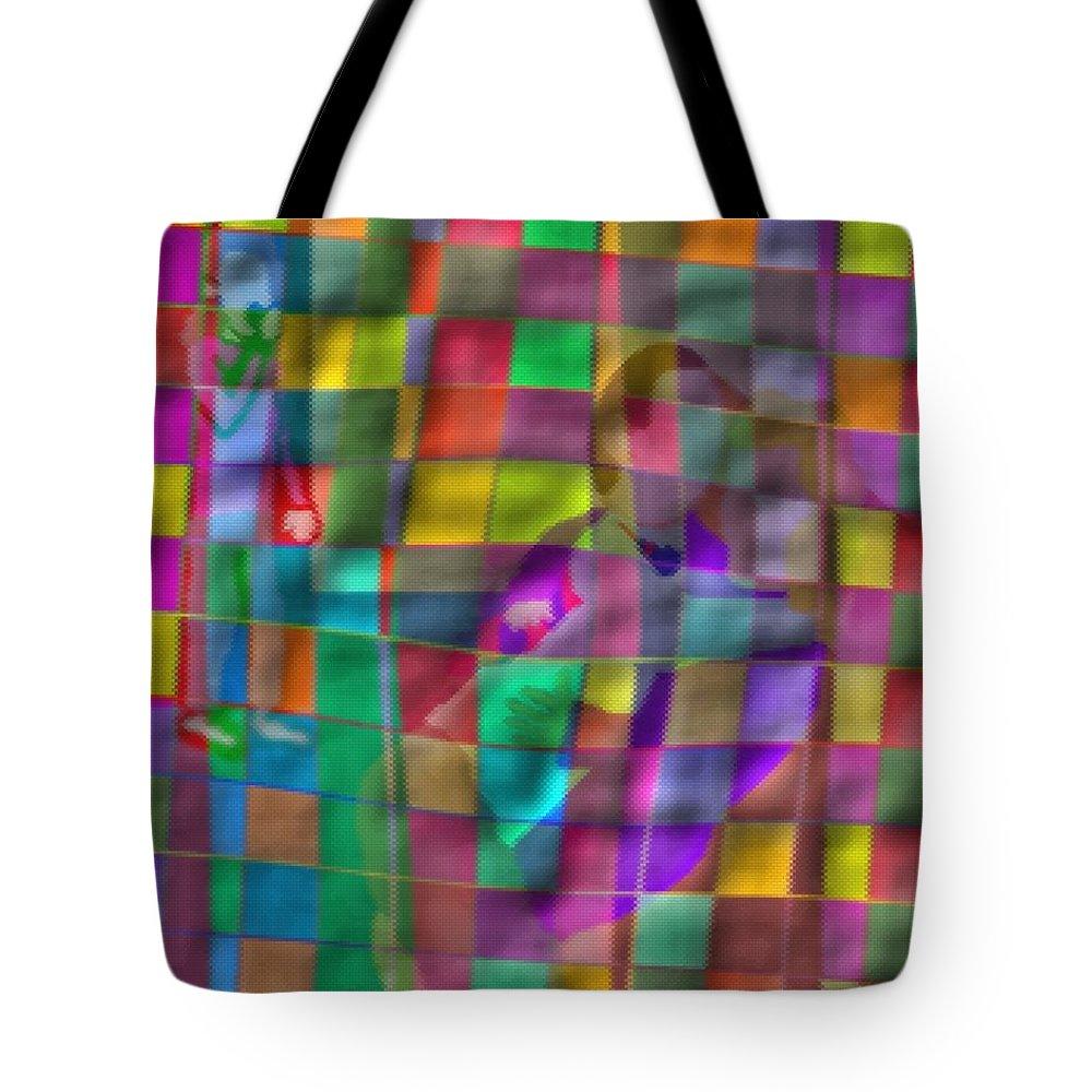 Affair Tote Bag featuring the drawing Affair by Pharris Art