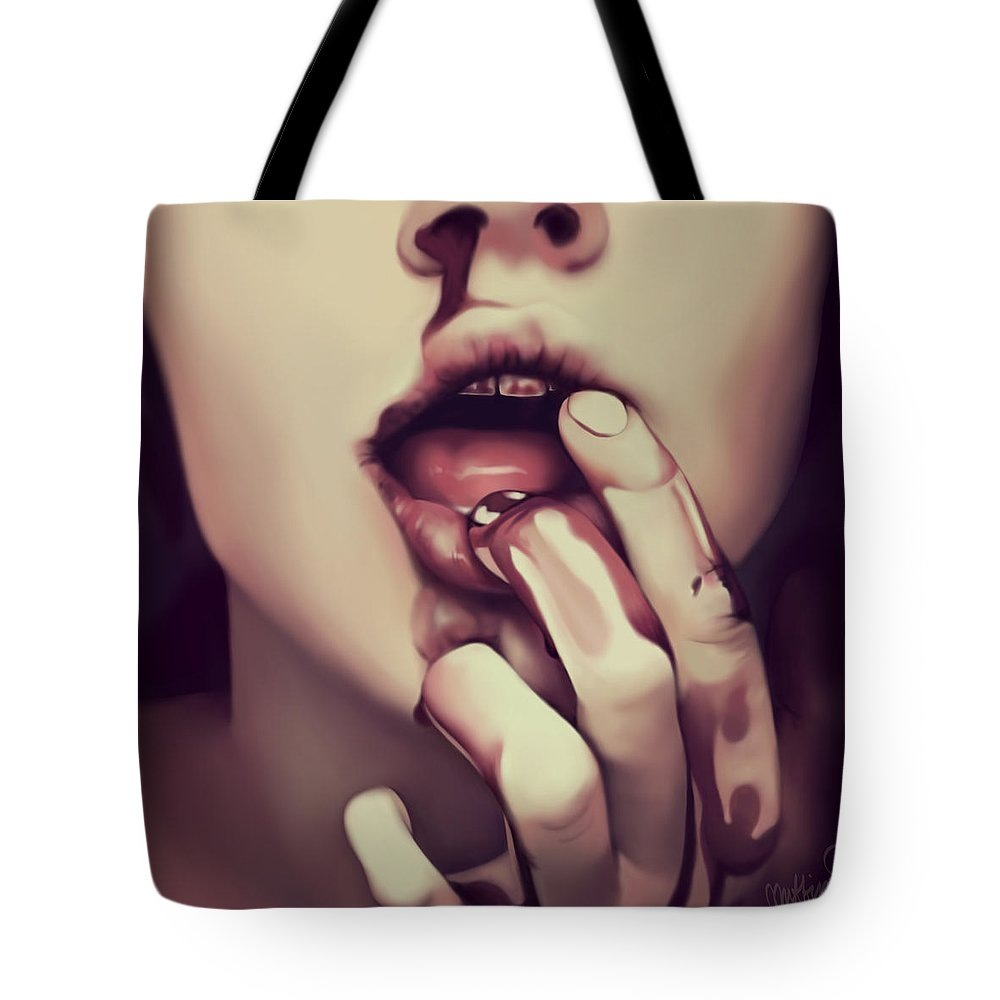 Photo Realism Tote Bag featuring the digital art Affiliated by Muffin Jones