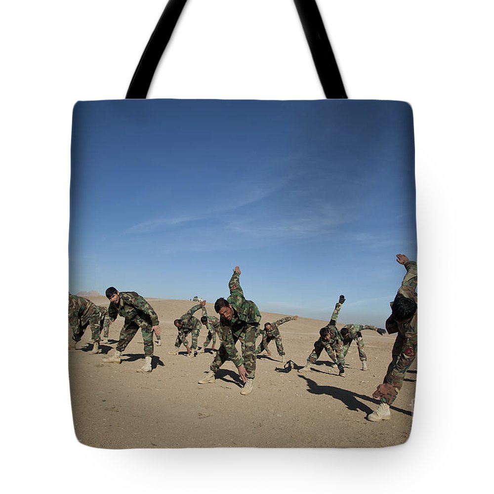 Afghanistan Tote Bag featuring the photograph Afghan National Army Commandos by Stocktrek Images