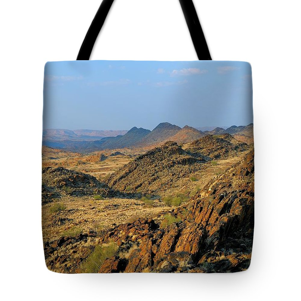 Scenics Tote Bag featuring the photograph African Scenery by Vittorio Ricci - Italy