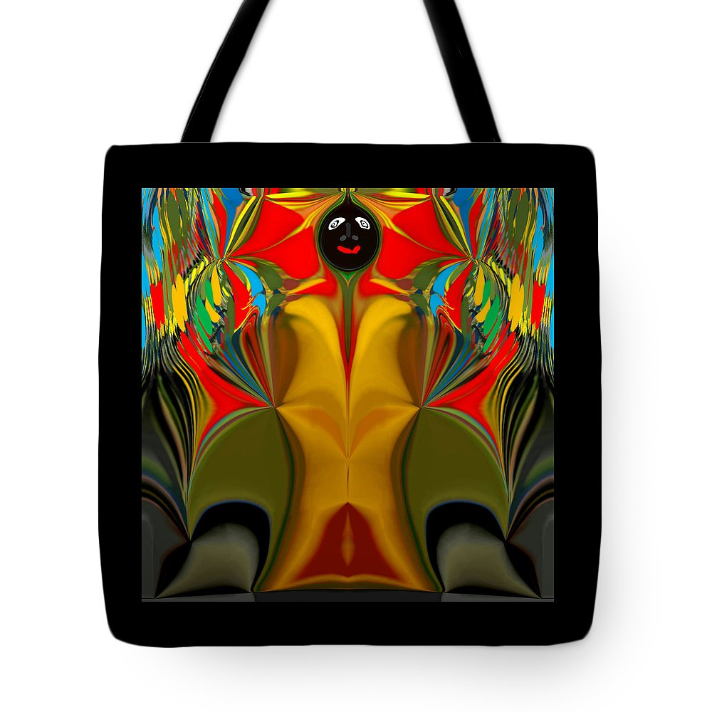 Africa Tote Bag featuring the painting Afro Art by Graeme Carrol