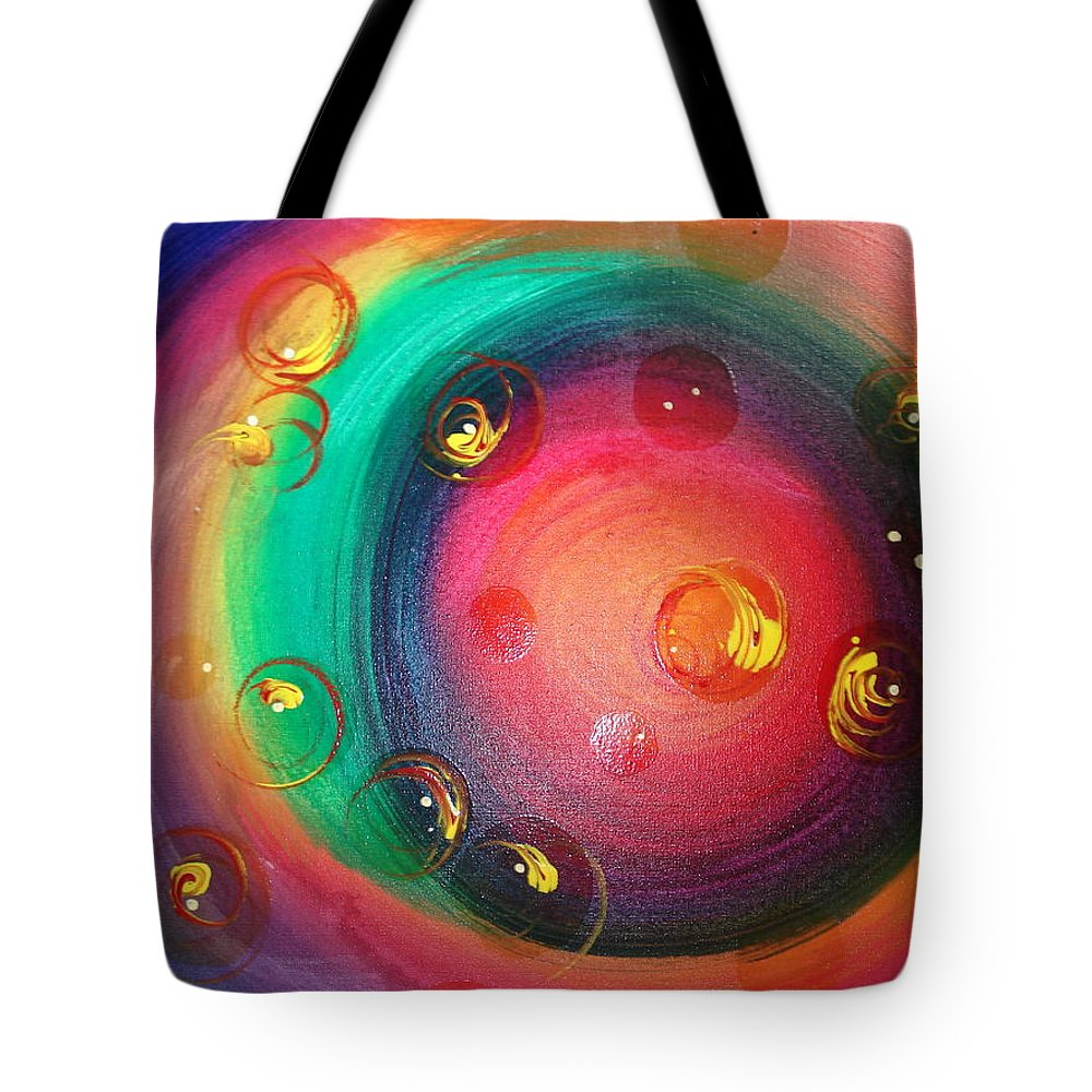 Abstract Tote Bag featuring the painting After A Few by Krystyna Spink