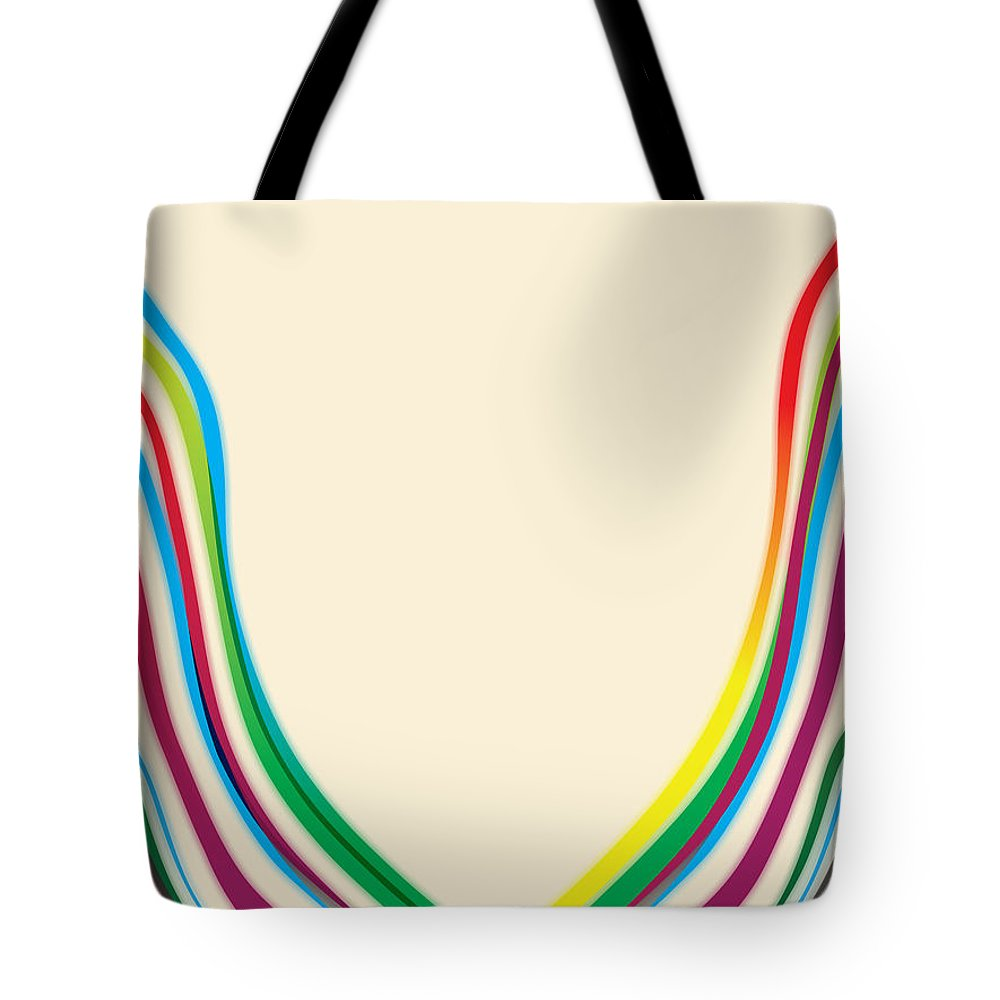 Gary Grayson Tote Bag featuring the digital art After Morris Louis 2 by  Gary Grayson 08638242a0cc
