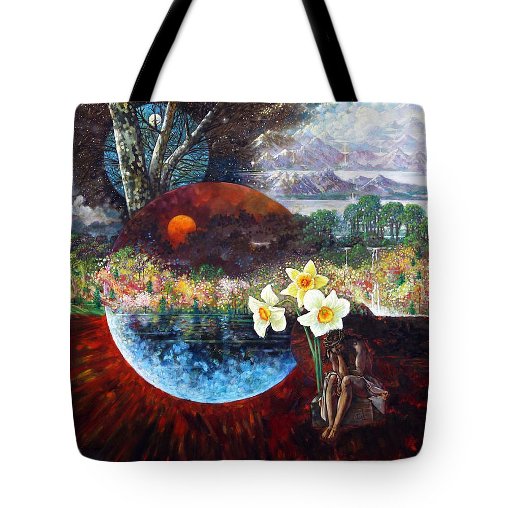 Jesus Christ Tote Bag featuring the painting After The Death Of Christ by John Lautermilch