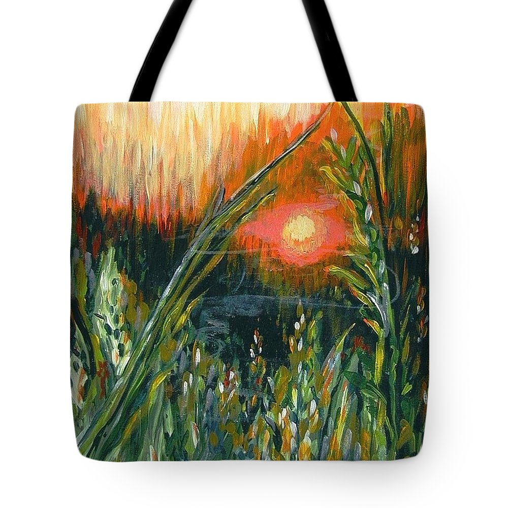 Fire Tote Bag featuring the painting After The Fire by Holly Carmichael