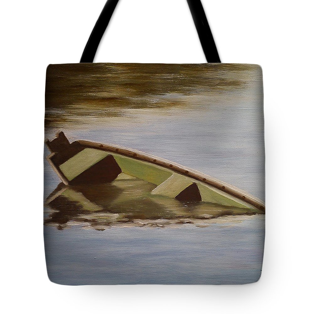 Landscape Tote Bag featuring the painting After The Flood by Andreja Dujnic