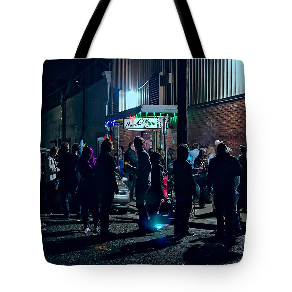 Krewe Du Vieux Tote Bag featuring the photograph After The Parade _ Nola by Kathleen K Parker