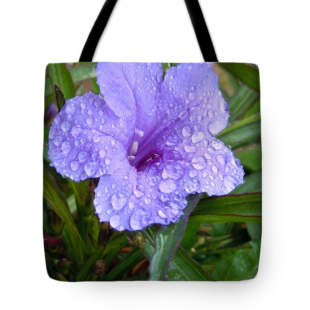 Flower Tote Bag featuring the photograph After The Rain #2 by Robert ONeil