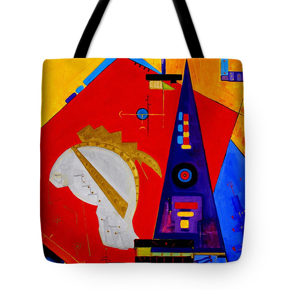 Abstract Tote Bag featuring the painting After The Romans by Miroslav Stojkovic -Miro