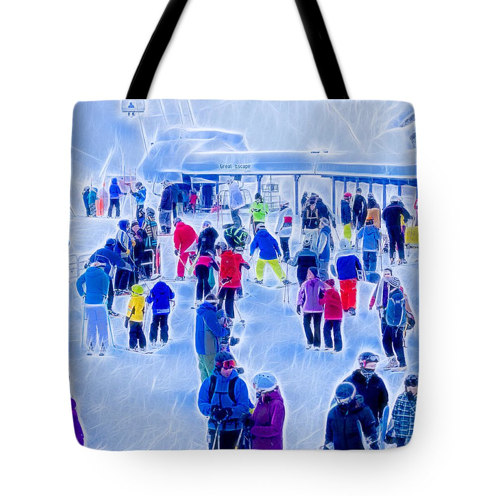 Mountains Tote Bag featuring the photograph After The Run by Albert Seger