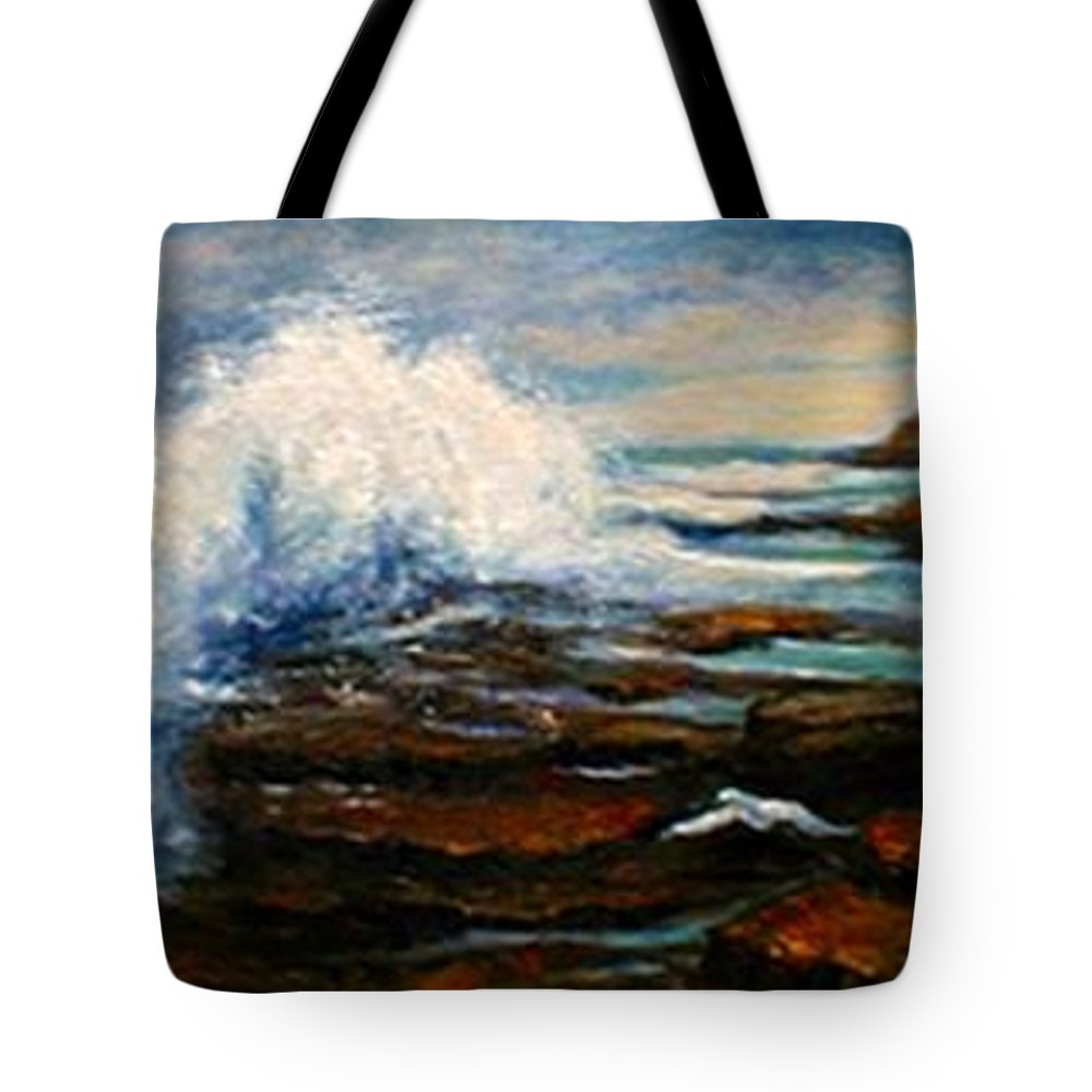 Seascape Tote Bag featuring the painting After The Storm by Gail Kirtz