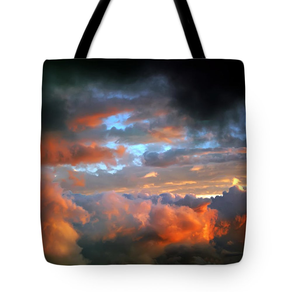 View Tote Bag featuring the photograph After Tornado Skyscape by Alex Grichenko