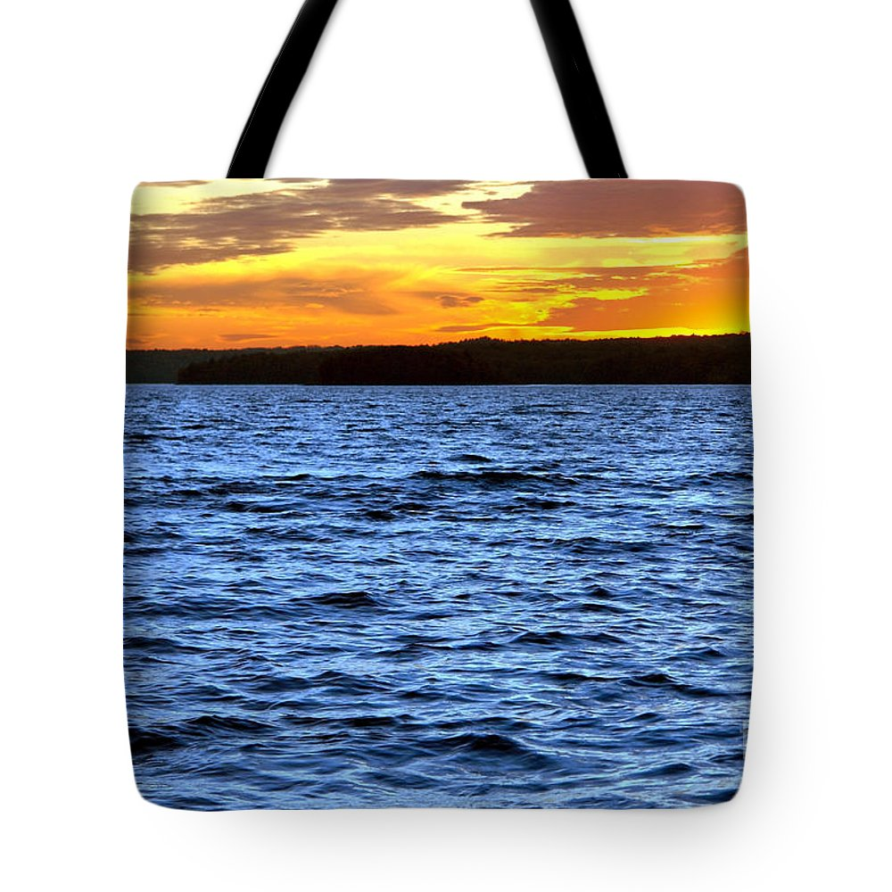 Pennsylvania Tote Bag featuring the photograph Afterglow by Olivier Le Queinec