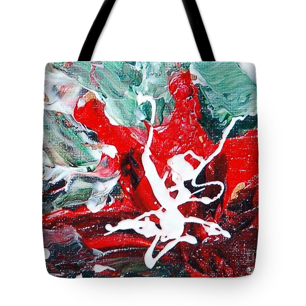 Floral Tote Bag featuring the painting Afternoon Delight by Teresa Wegrzyn