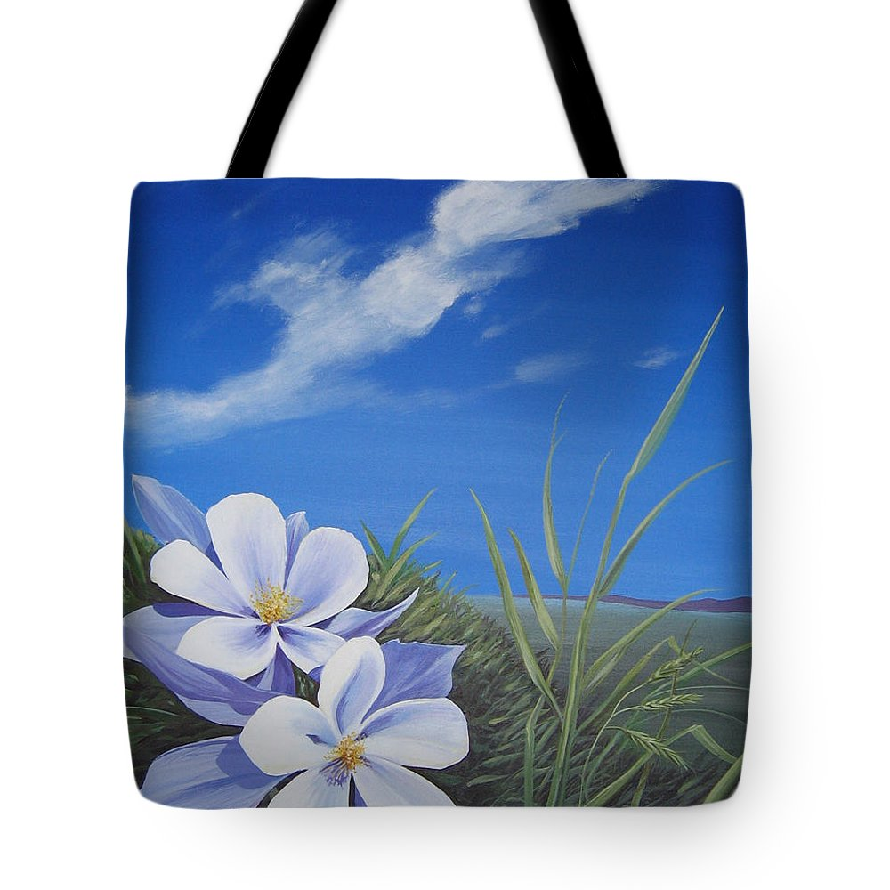 Landscape Tote Bag featuring the painting Afternoon High by Hunter Jay