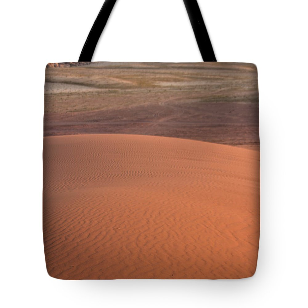 Jordan Tote Bag featuring the photograph Afternoon Light On The Dune In Wadi Rum by Joshua Van Lare