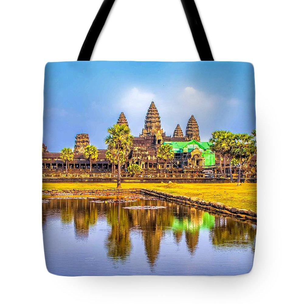 Angkor Tote Bag featuring the photograph Afternoon Reflection by Roberta Bragan