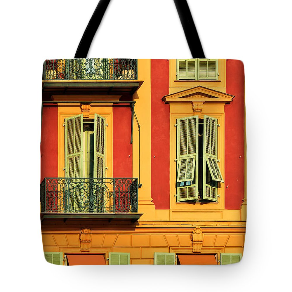 Cote D\'azur Tote Bag featuring the photograph Afternoon Windows by Inge Johnsson
