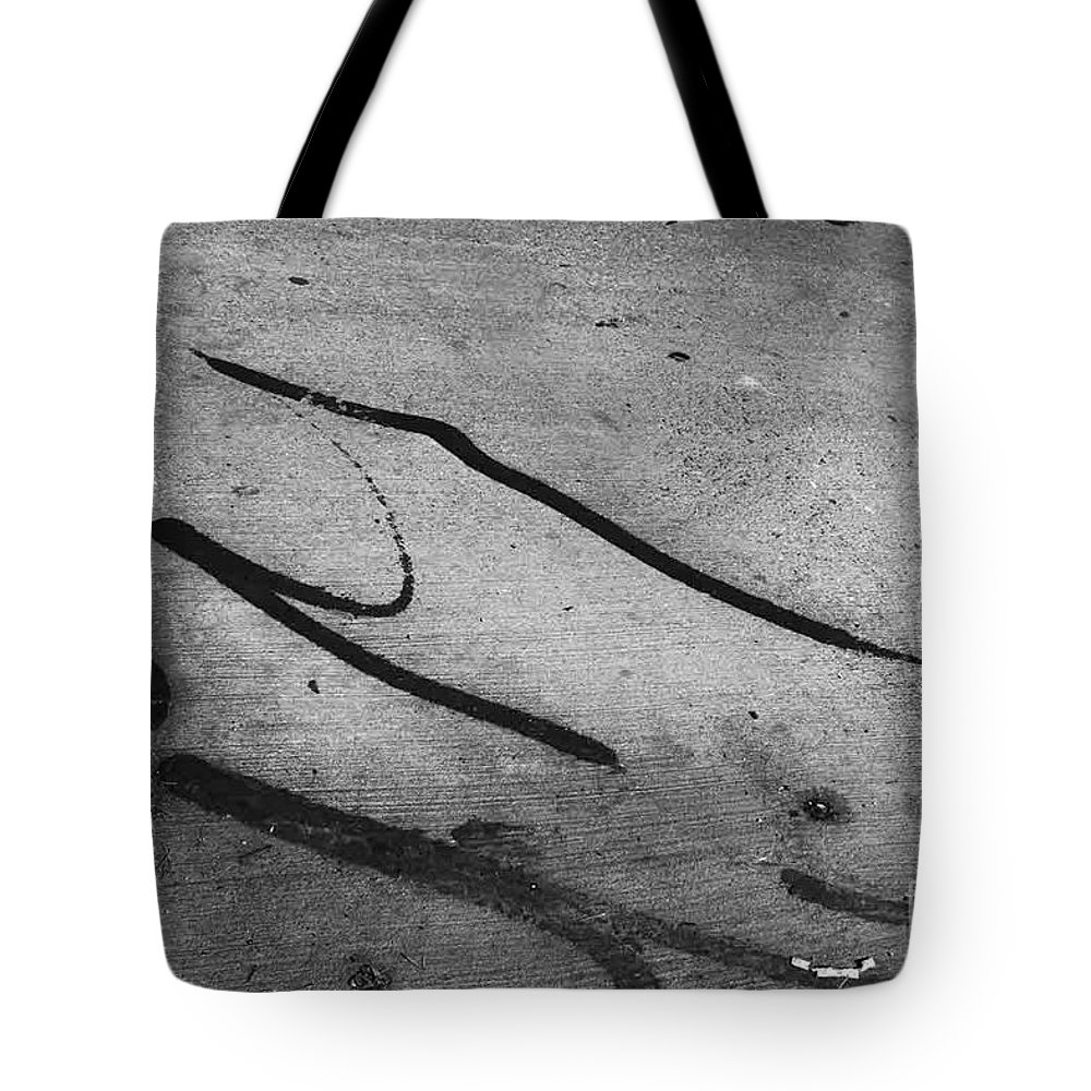 Black And White Photography Tote Bag featuring the photograph Against All The Odds by Fei A