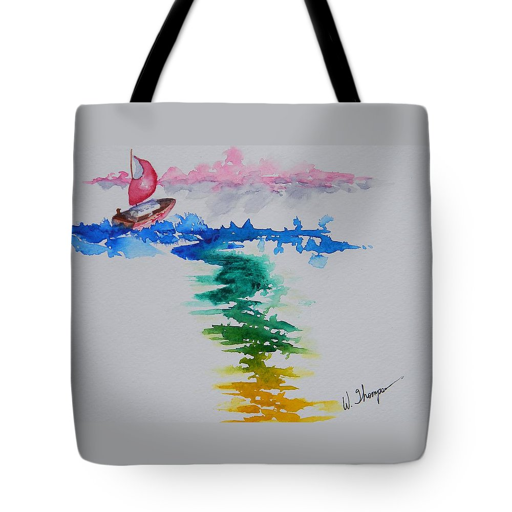 Against The Wind Tote Bag featuring the painting Against The Wind by Warren Thompson