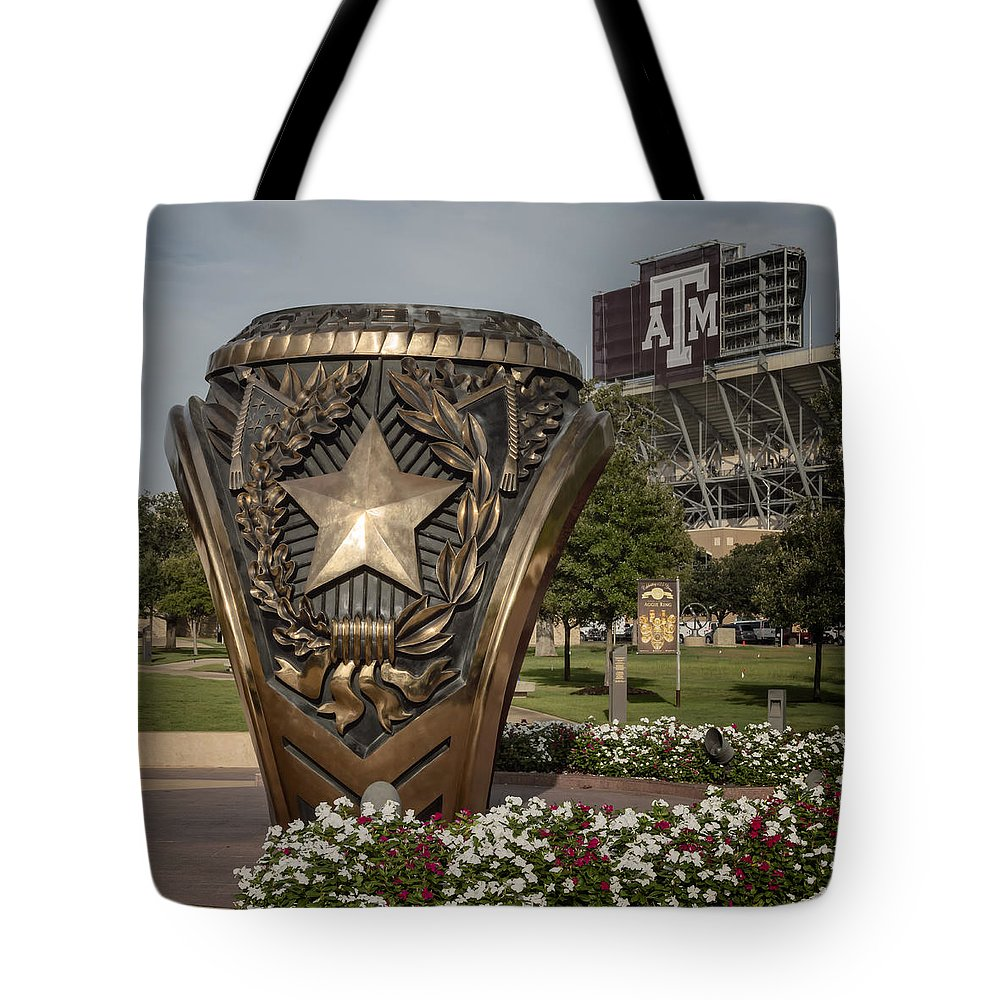 Joan Carroll Tote Bag featuring the photograph Aggie Ring by Joan Carroll