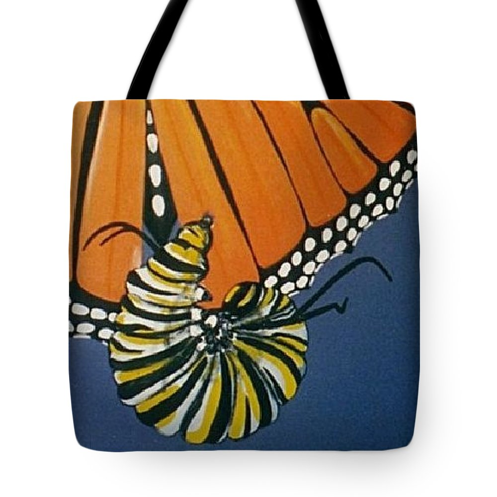Butterfly Tote Bag featuring the painting Ah To Fly by Joan Stratton