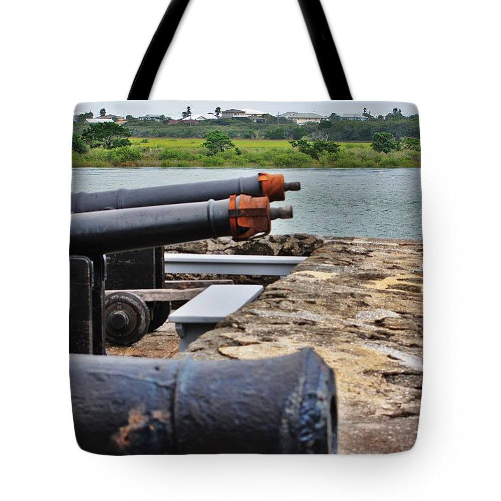 Florida Tote Bag featuring the photograph aim by Chuck Hicks