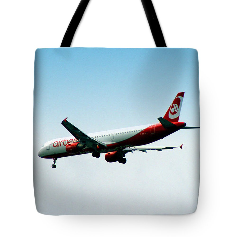 Airplane Tote Bag featuring the photograph Air Berlin by Doc Braham