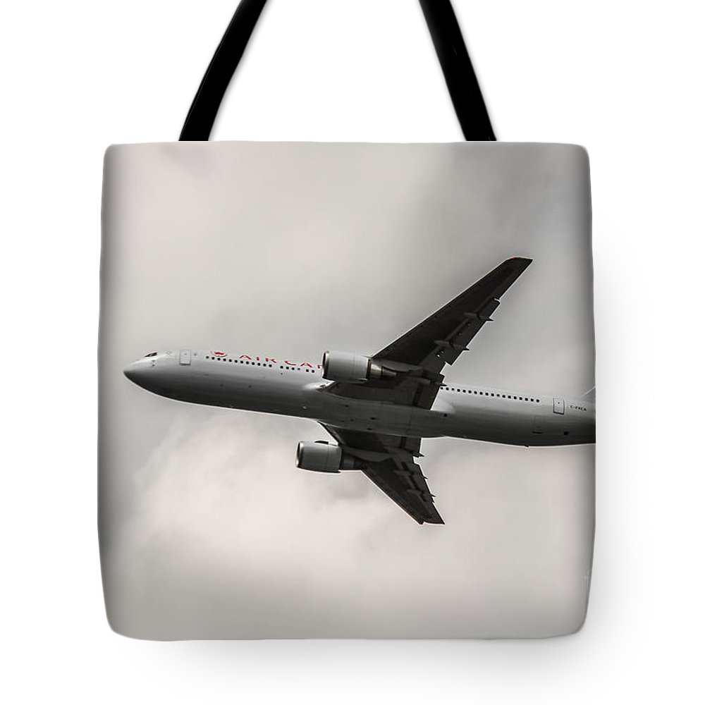 Air Canada Tote Bag featuring the photograph Air Canada B 767 Monochrome by Rene Triay Photography