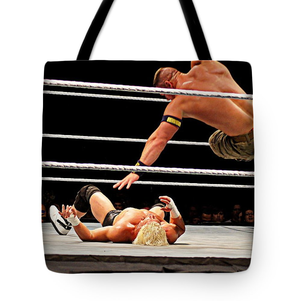 John Cena Tote Bag featuring the photograph Air Cena by Paul Wilford