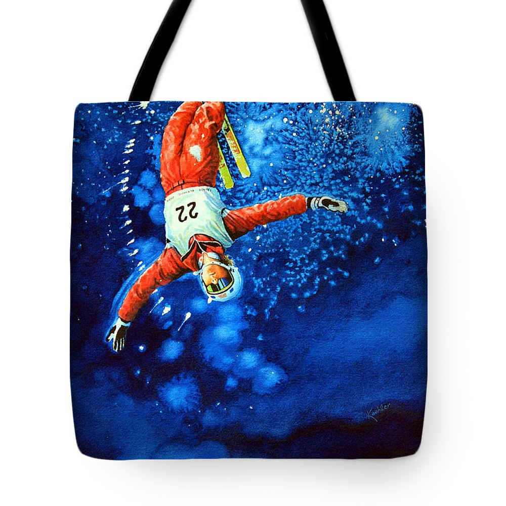 Sports Art Tote Bag featuring the painting Air Force by Hanne Lore Koehler