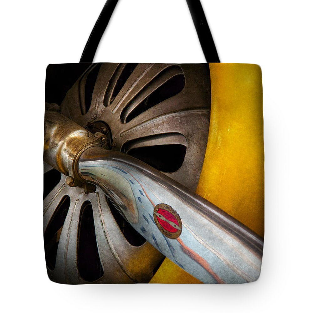 Hdr Tote Bag featuring the photograph Air - Pilot - Ready For Take Off by Mike Savad