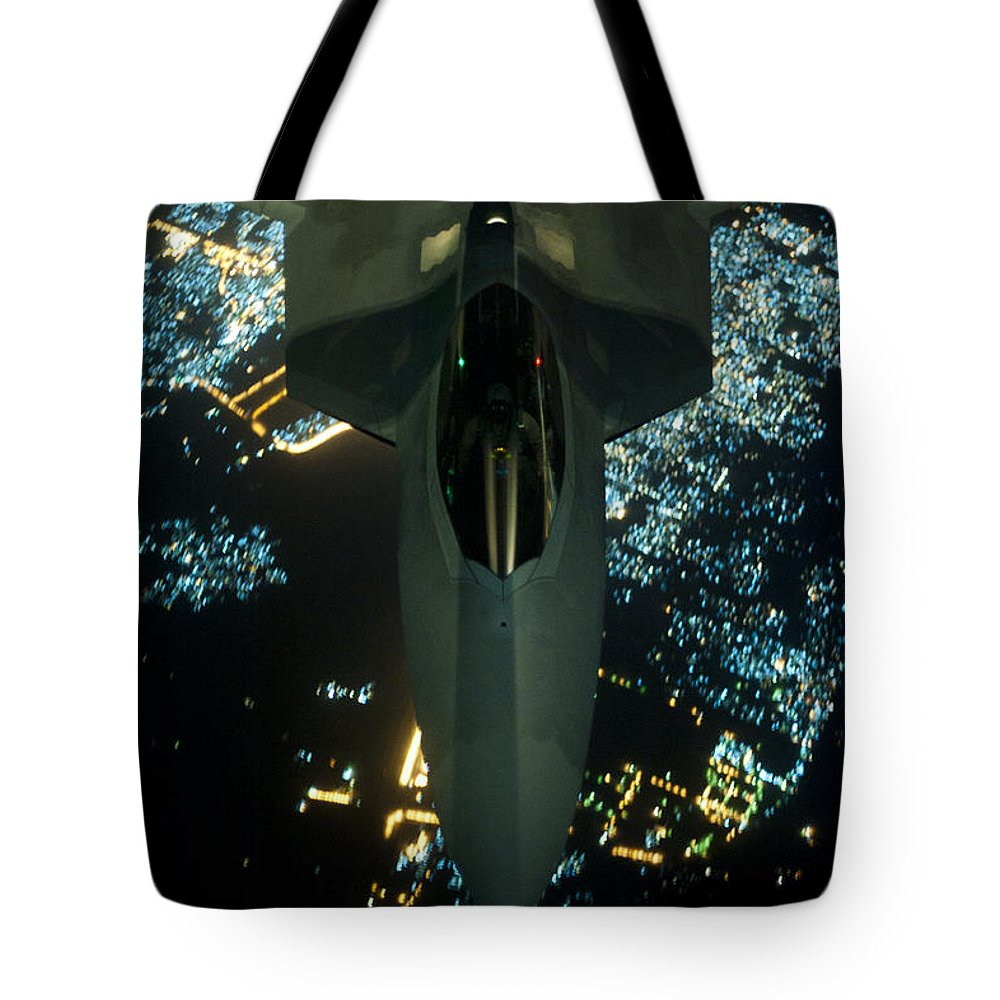 Tote Bag featuring the photograph Air To Air Refueling At Night by Paul Fearn
