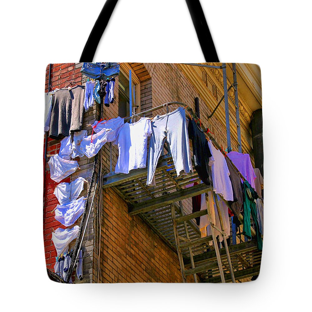 Laundry Tote Bag featuring the photograph Airing Out The Drawers By Diana Sainz by Diana Raquel Sainz