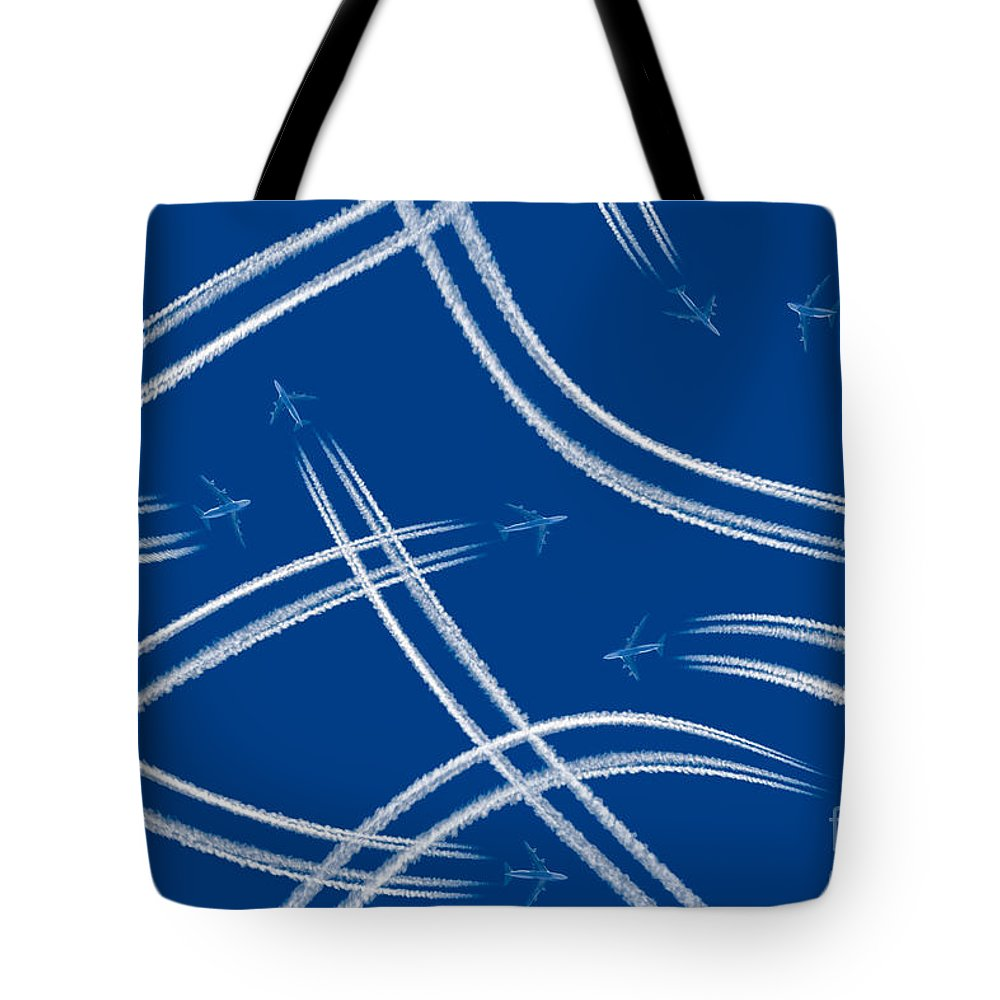 Across Tote Bag featuring the photograph Airliners Gone Wild by Stephan Pietzko