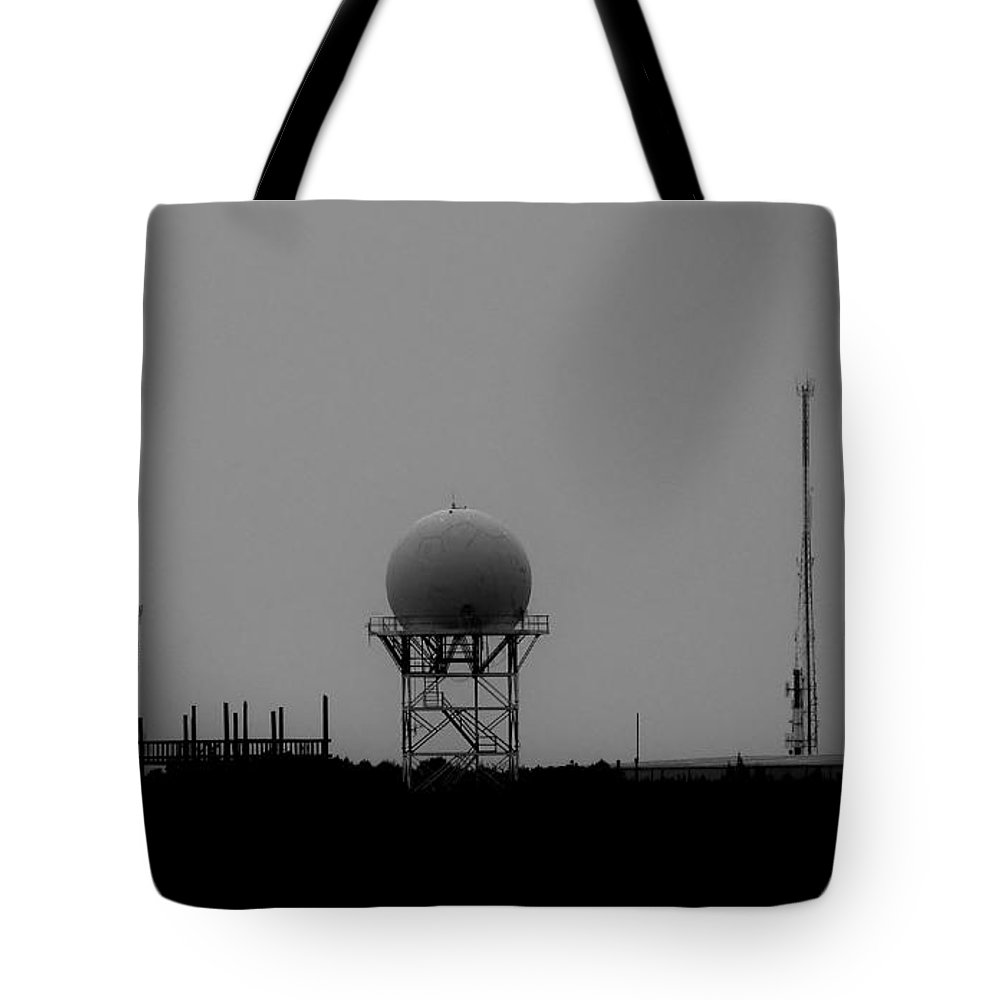 Black And White Tote Bag featuring the photograph Airport Gcm by Amar Sheow