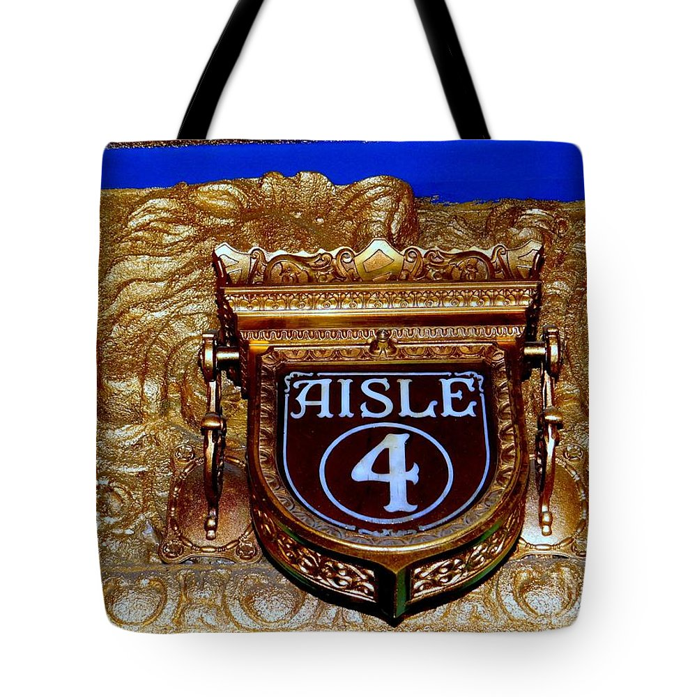 Theater Tote Bag featuring the photograph Aisle 4 by Ed Weidman