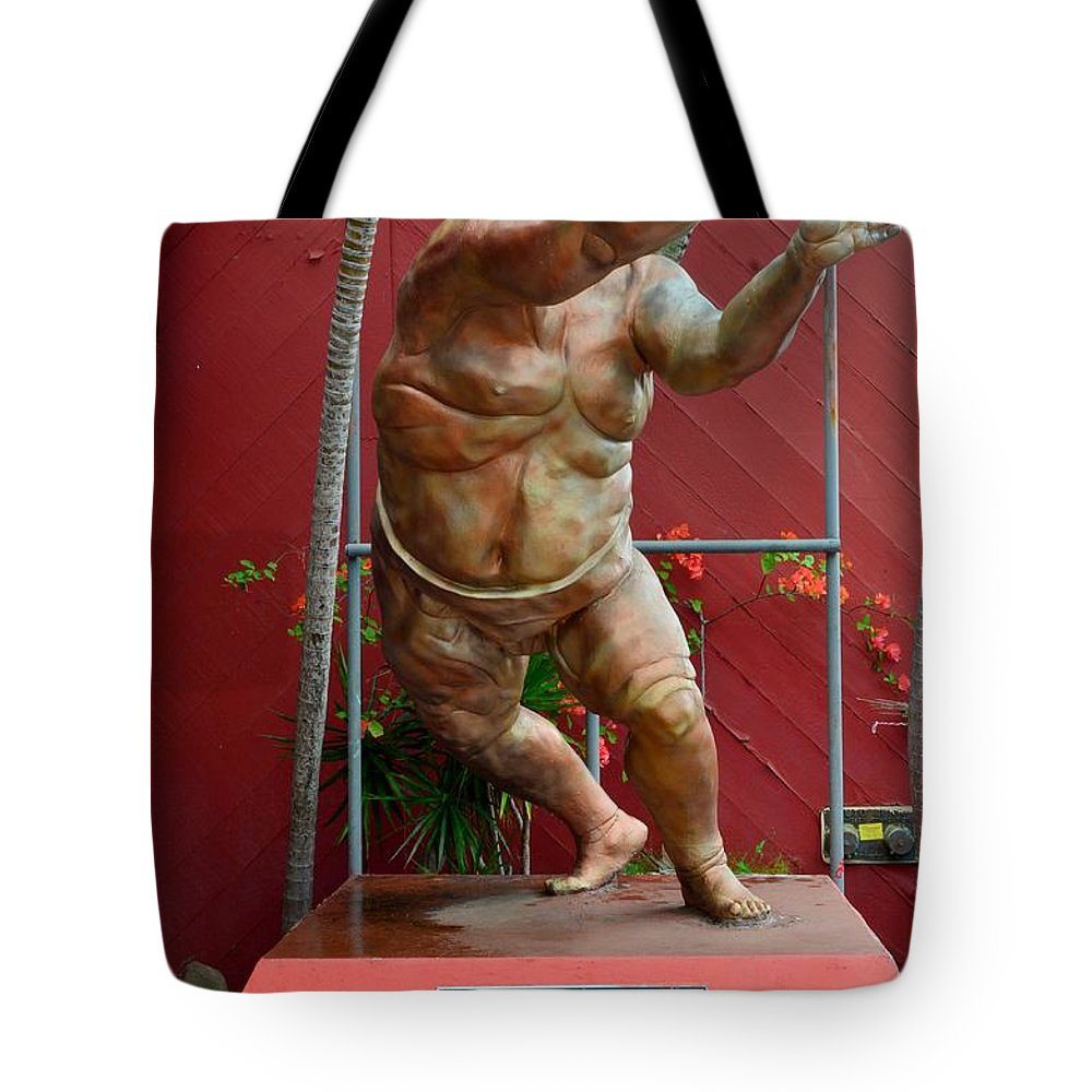 Sumo Wrestlers Tote Bag featuring the photograph Akebono by Mary Deal