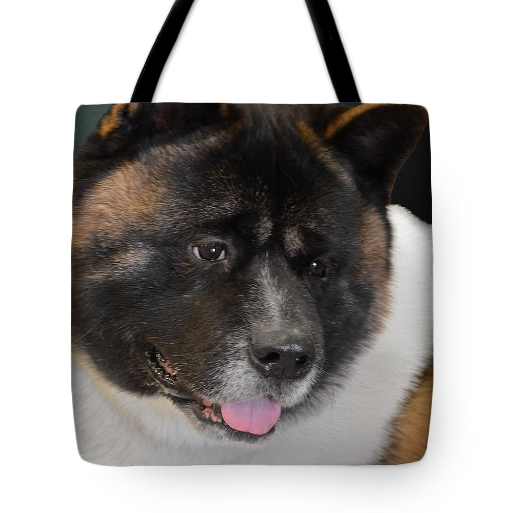 Akitas Tote Bag featuring the photograph Akita - A Dog's Tale by Christine Till
