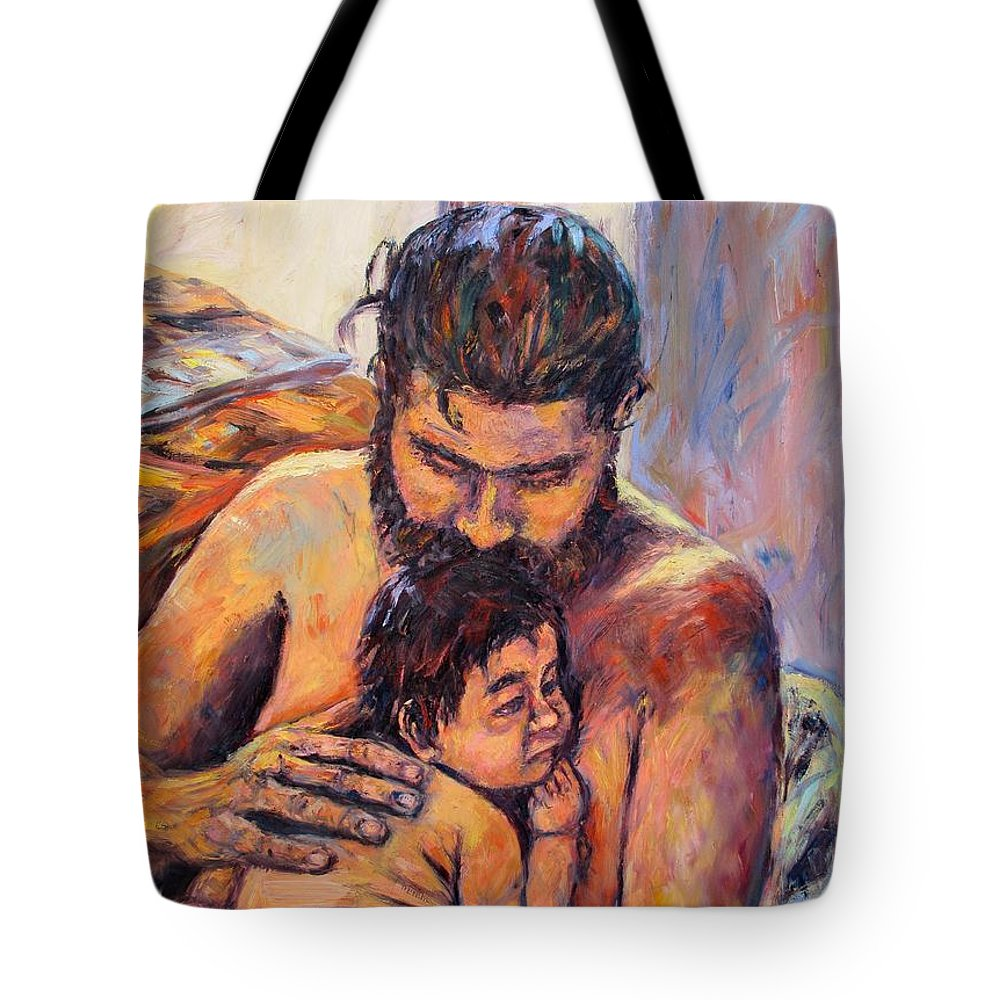Kendall Kessler Tote Bag featuring the painting Alan And Clyde by Kendall Kessler