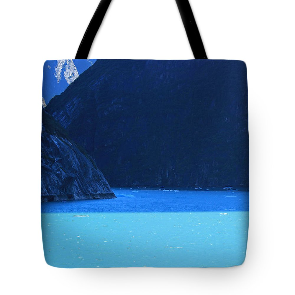 Alaska Tote Bag featuring the photograph Alaska Rhapsody In Blue by Kris Hiemstra