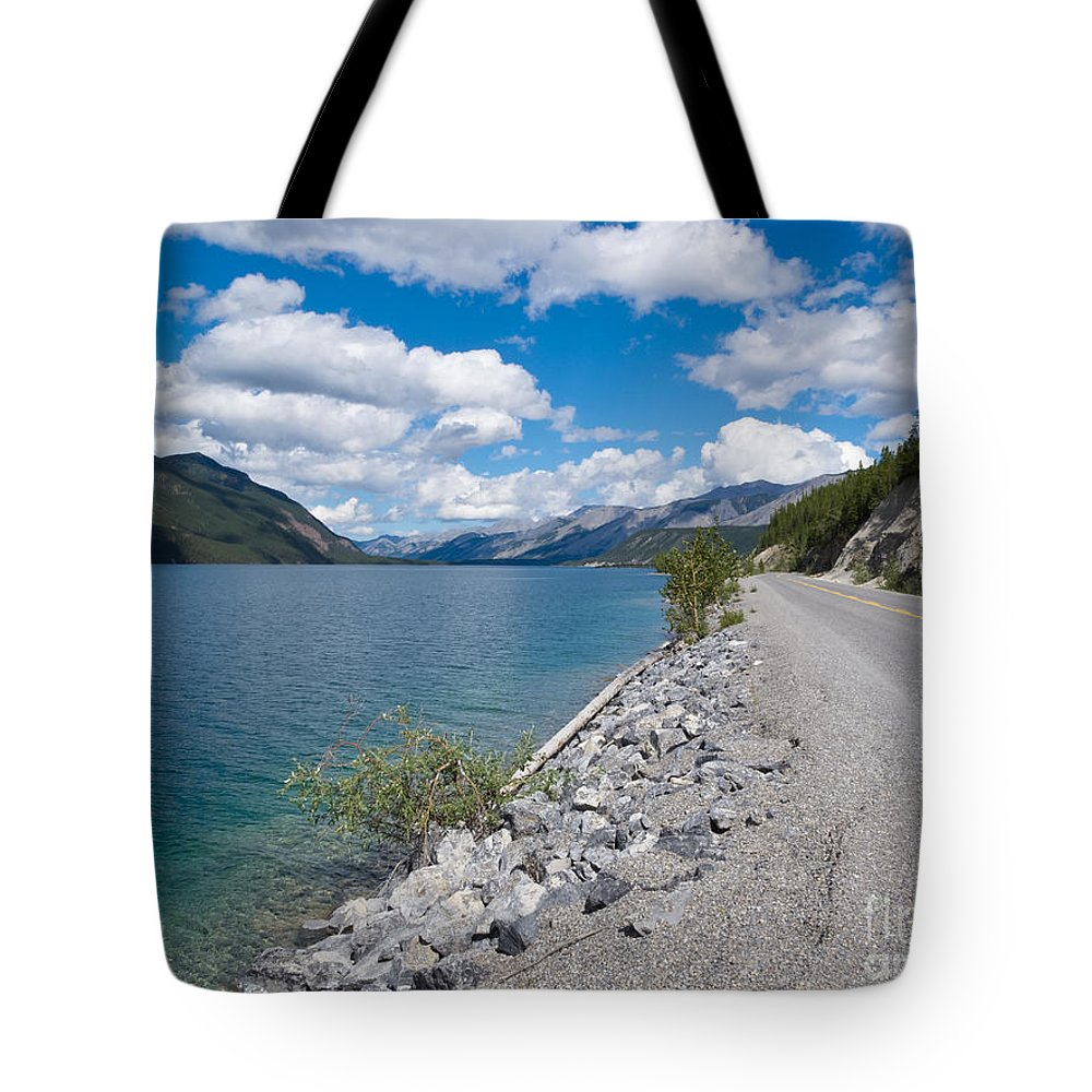 Alaska Tote Bag featuring the photograph Alaska Highway Muncho Lake Prov Park Bc Canada by Stephan Pietzko