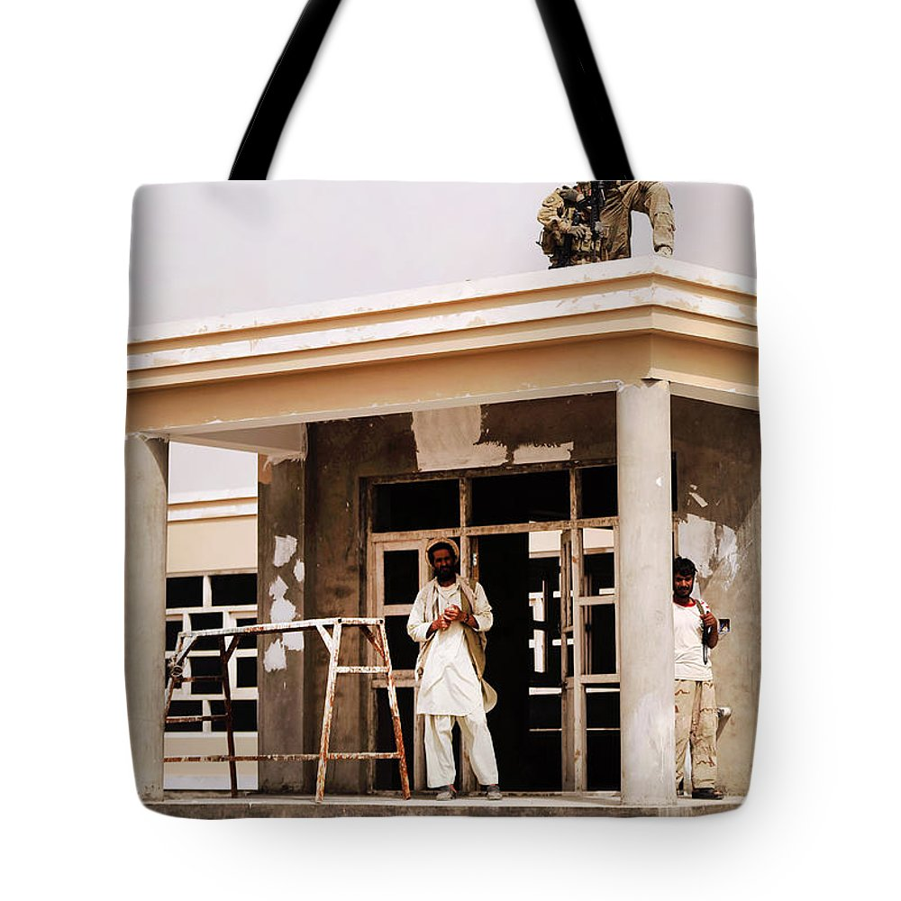 Provincial Reconstruction Team Tote Bag featuring the photograph Alaskan National Guard Provides by Stocktrek Images