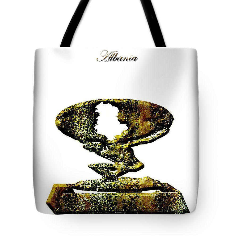 Albania Tote Bag featuring the digital art Albania by Brian Reaves