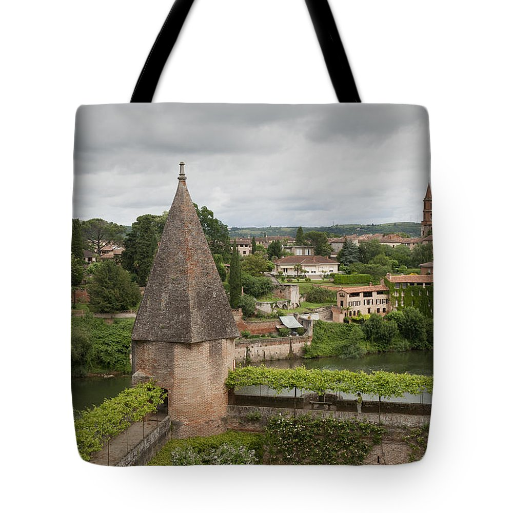 Albi Tote Bag featuring the photograph Albi France Arch Bishops Garden by Greg Kluempers