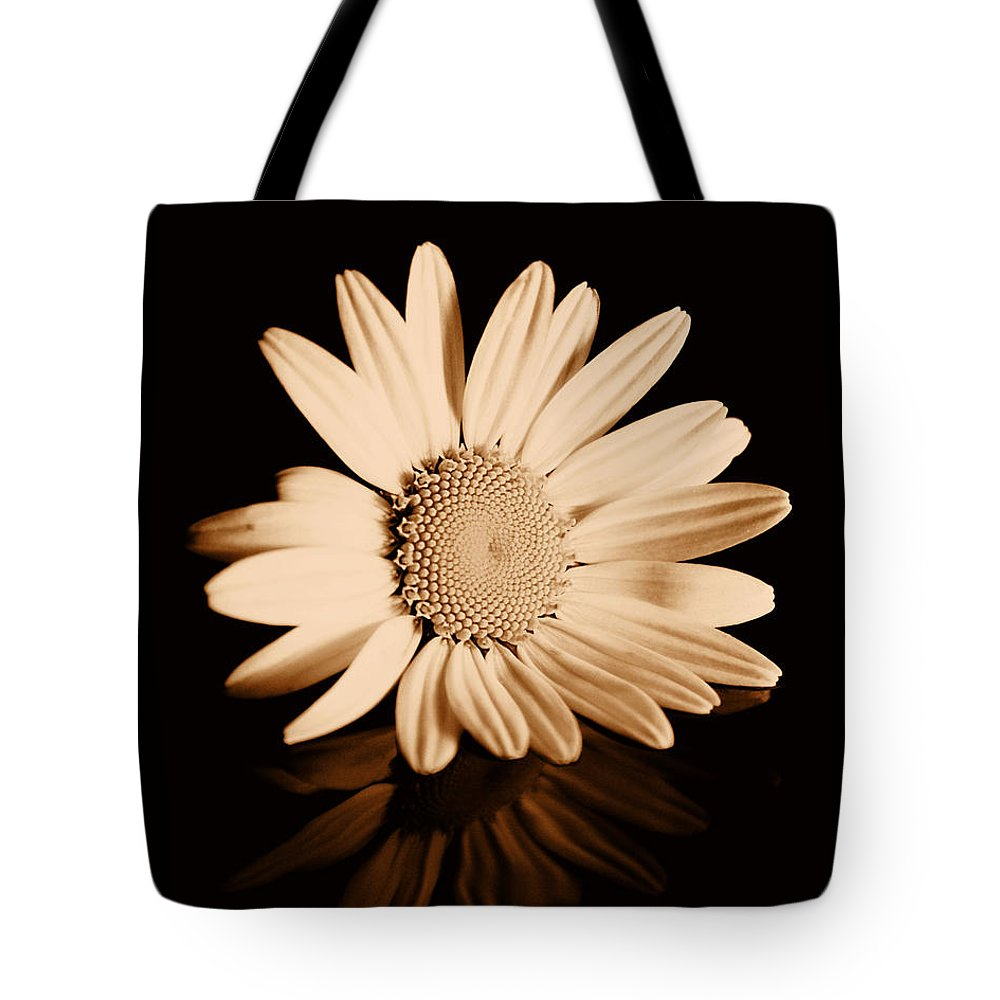 Albumen Tote Bag featuring the photograph Albumen Daisy by Brian Raggatt
