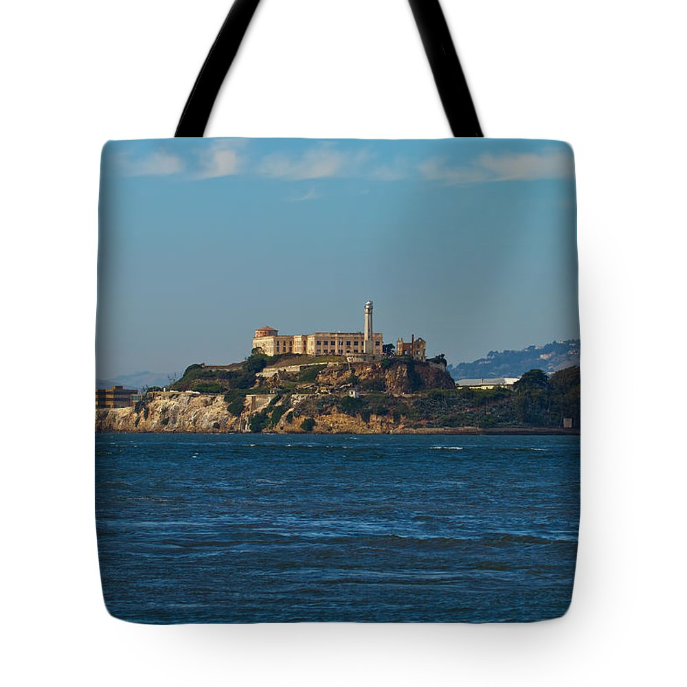 Alcatraz Tote Bag featuring the photograph Alcatraz Island In San Francisco Bay by Jit Lim