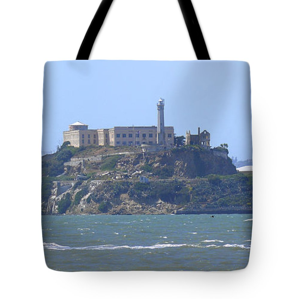 Landmarks Tote Bag featuring the photograph Alcatraz Island by Mike McGlothlen